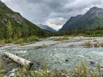 Well off the beaten path along the Kings River near Chickaloon Alaska