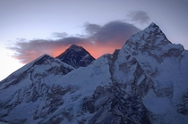 Well worth waking up in the dark to make the hike in time Mt Everest