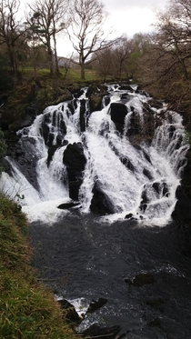 Welsh waterfall near Betws-y-Coed