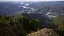 Went for an early morning hike today and got this view from top of Kings Mountain Oregon at am