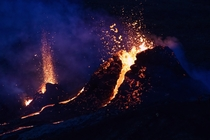 Went last night to see the eruption at Fagradalsfjall Absolutely amazing seeing it up close