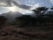 Went on an archaeological excavation this summer and caught this beautiful sunrise on a crisp cool morning South Horr Kenya x