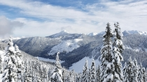 Went snowboarding at Stevens Pass WA