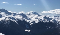 Went snowboarding in Whistler Canada This is the view from the peak Pardon the quality