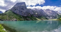 Went swimming in the Oberblegisee switzerland with this fantastic view