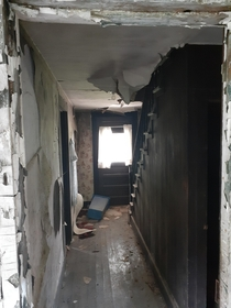 Went to look at some property for sale Listing said buildings were uninhabitable Had to see for myself Floor was very soft Stopped here for fear of ending up in the basement Small album in comments