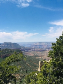 Went to the rainbow rim trail right beside the Grand Canyon