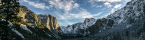 Went to Yosemite in the winter for the first time and took this panorama