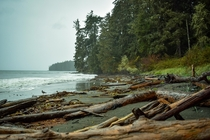 West coast of Vancouver Island after a storm