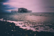 West Pier Brighton is slowly falling into the sea x