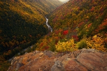 West Virginia Fall Colors near Blackwater Falls State Park