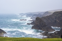 Western Ireland coastline on a stormy day OC x