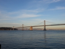Western Span of the Bay Bridge from the Embarcadero Ferry Terminal