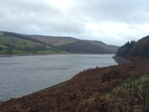 Wet and Windy Day at the Dams Derwent Valley Peak District UK