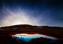 Weve all seen the iconic Mesa Arch at sunrise how about Mesa Arch at moonrise x