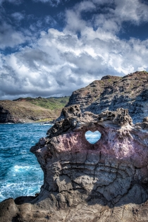 What a crazy shaped rock cut by the ocean in Maui Hawaii by IPBrian