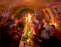 What about having a little dinner in the forbidden catacombs of Paris