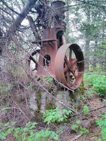 What I think is a huge single cylinder engine Found near the abandoned village of Portlock AK