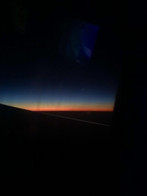 what i woke up to on my overnight flight to Cancun Mexico