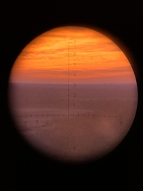 What it looks like through my optic during one of our training days