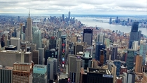 What New York looked like at noon today from a thousand feet
