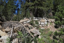 What Remains of the Sonora-Mono Wagon Road along SR- Stanislaus National Forest California