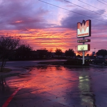 Whatasunset-Texas during the winter of