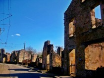 Whats left of a village in Oradour-sur-Glane France after being attacked in WWII