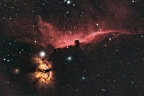 Whats possible with a small telescope a DSLR and a light-polluted city backyard - my take on the Horsehead Nebula