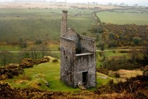 Wheal Betsy - the last standing Engine House mining zinc lead and silver on Dartmoor England
