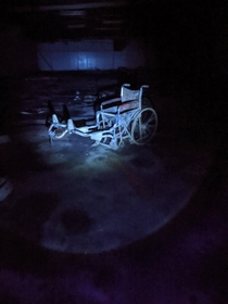 Wheelchair creation left behind in underground storage