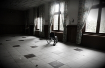 Wheelchair in an abandoned hospital in France