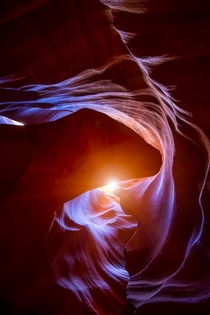 When exploring canyons remember to look up You might just see something other people dont see Antelope Canyon AZ