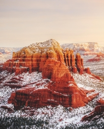 When it blizzards in the desert - Sedona AZ  Instagram kylefredrickson