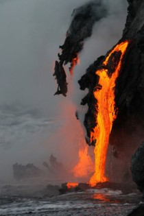 When Lava Meets the Sea Location Unknown