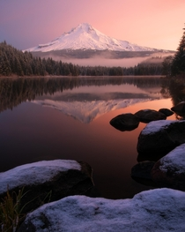When life becomes overwhelming Trillium Lake Oregon is where I go