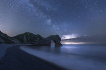 When Thor goes fishing off Durdle Door Dorset - United Kingdom