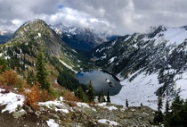 When you can see the seasons changing across the valley Maple Pass WA