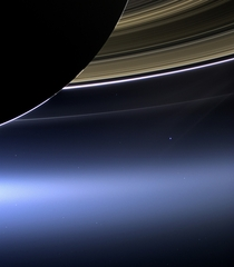 When you get where you are going dont forget to turn back around The blue dot taken by NASAs Cassini x