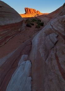 When you see sunrise here you will understand why they named it the Valley of Fire State Park Nevada