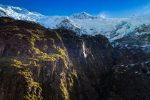 Where Beech Forest meets Glaciers Mt Aspiring National Park Rob Roy Valley New Zealand