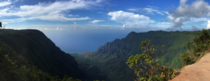 Where does the sea meet the sky - Flawless panorama of Kalaulau Valley overlook on Kauai Hawaii