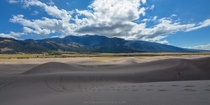 Where Great Sand Dunes National Park ends and the mountains begin
