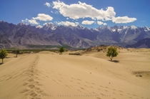 Where sand dunes meet snow-capped mountains Skardu Pakistan  by Adeel Shaikh