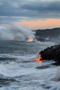 Where the lava meets the sea  x