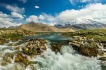 While trekking in China near the border of Pakistan we captured this shot at Karakul Lake