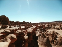 While working a seasonal job out in Moab UT I got a chance to explore some state parks Goblin Valley was definitely a favorite