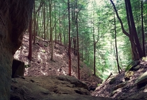 Whispering Caves in Hocking Hills Ohio