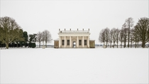 White as far as the eye can see in Wrest Park Bedfordshire England  Photographed by Paul Baggaley