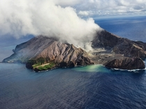 White Island NZ from the sky   x